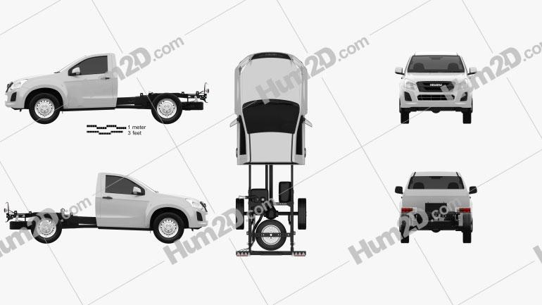 Isuzu D-Max Single Cab Chassis SX 2017 car clipart