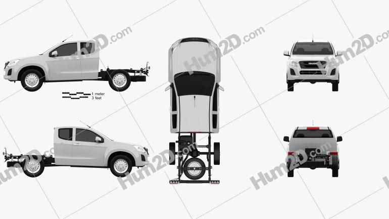 Isuzu D-Max Space Cab Chassis SX 2017 car clipart
