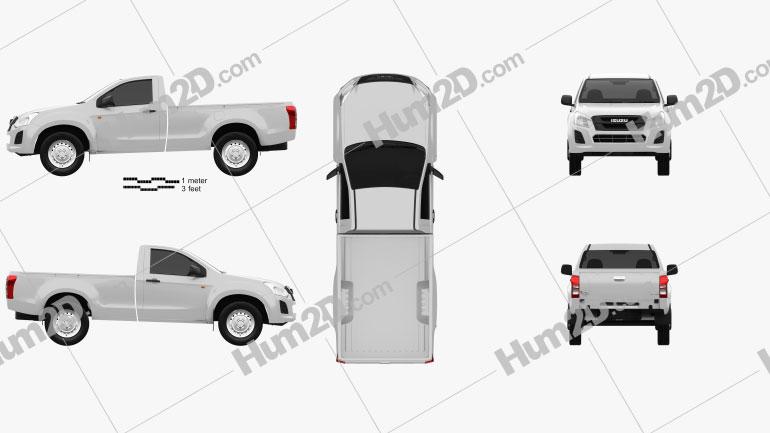 Isuzu D-Max Single Cab Ute SX 2017 car clipart