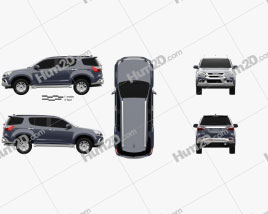 Isuzu MU-X 2017 car clipart