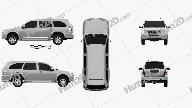 Isuzu MU-7 2011 car clipart