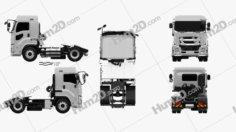 Isuzu Giga Tractor Truck 2-axle 2015 clipart