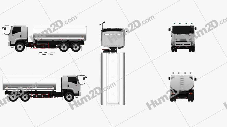 Isuzu FVM Tanker Truck 2017 Clipart Image