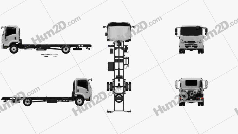 Isuzu Forward Fahrgestell LKW 2017 clipart