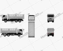 Isuzu FXZ 360 Flatbed Truck 2017 Clipart