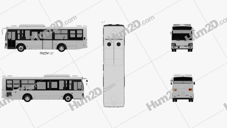 Isuzu Erga Mio L1 Bus 2019 clipart