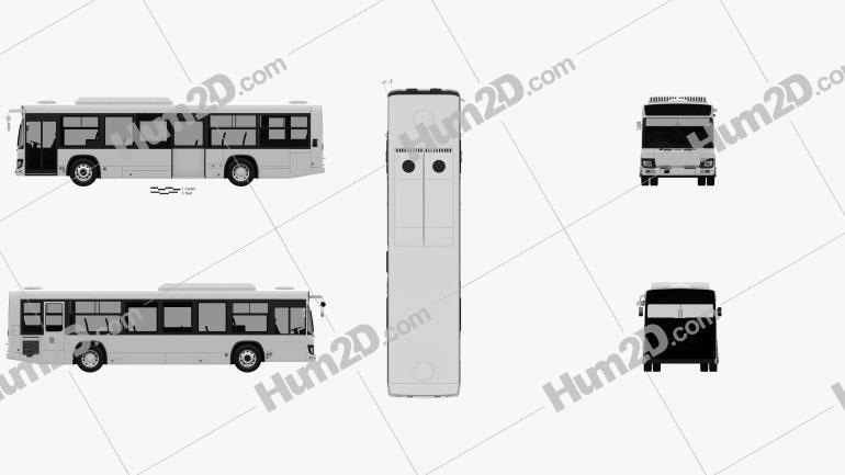 Isuzu Erga Mio L2 Bus 2019 Clipart Image