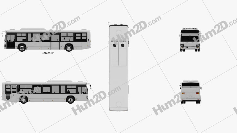 Isuzu Erga Mio L3 Bus 2019 clipart