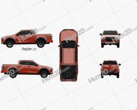 Isuzu D-Max Double Cab Vcross 4×4 2020 car clipart