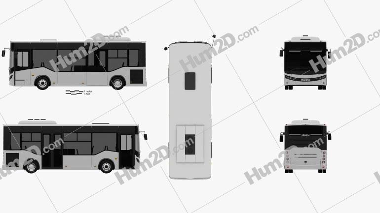Isuzu Novociti Life Bus 2018 Clipart Image