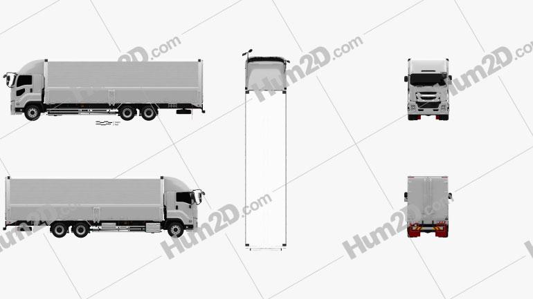 Isuzu Giga Box Truck 2015 clipart