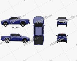 Isuzu D-Max Double Cab Hi-lander 2020 Clipart