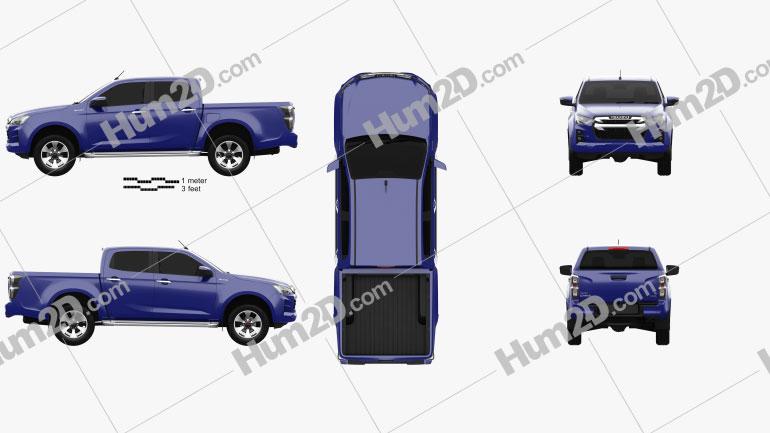 Isuzu D-Max Double Cab Hi-lander 2020 car clipart