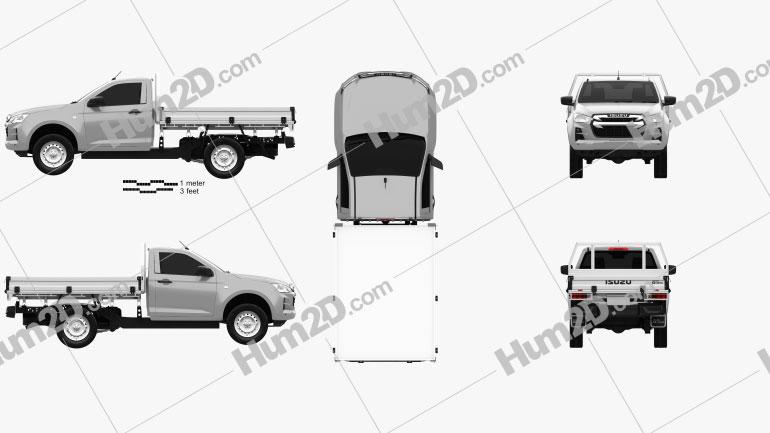 Isuzu D-Max Einzelkabine Alloy Tray SX 2020 car clipart