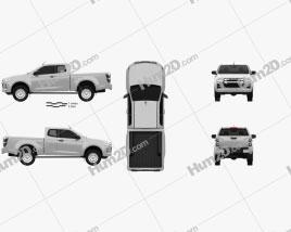 Isuzu D-Max Space Cab SX 2020 car clipart