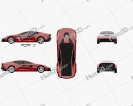 Italdesign Giugiaro Brivido 2012 car clipart