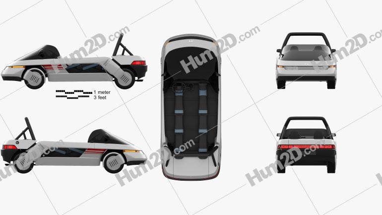 Italdesign Machimoto 1986 car clipart