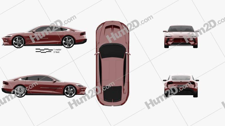 Italdesign DaVinci 2020 car clipart