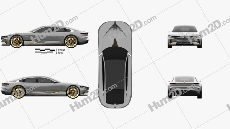 Italdesign Voyah i-Land 2021 car clipart