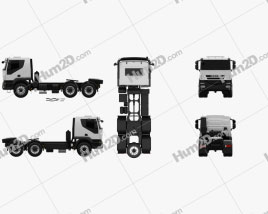Iveco Trakker Tractor Truck 3-axle 2012 clipart