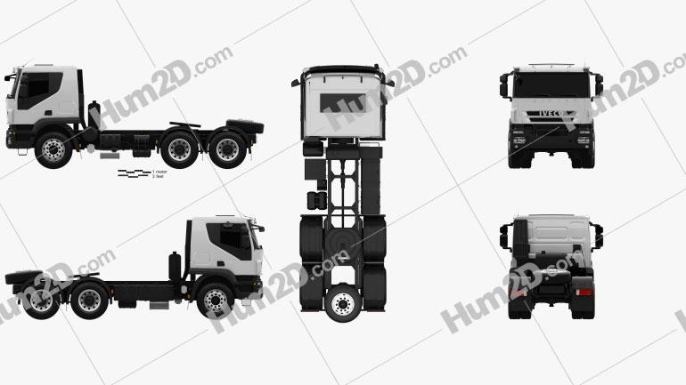 Iveco Trakker Tractor Truck 3-axle 2012 Clipart Image