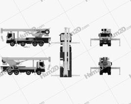 Iveco Trakker Crane Truck 2012 clipart