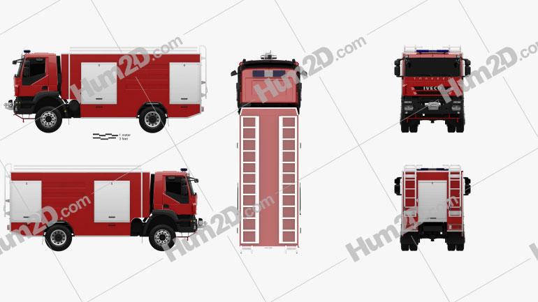 Iveco Trakker Fire Truck 2012 clipart