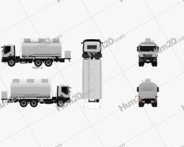 Iveco Trakker Fuel Tank Truck 2012 clipart