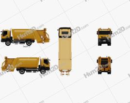 Iveco Trakker Garbage Truck 2012 clipart