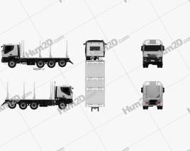 Iveco Trakker Log Truck 2012 clipart