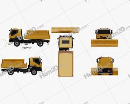 Iveco Trakker Snow Plow Truck 2012 clipart