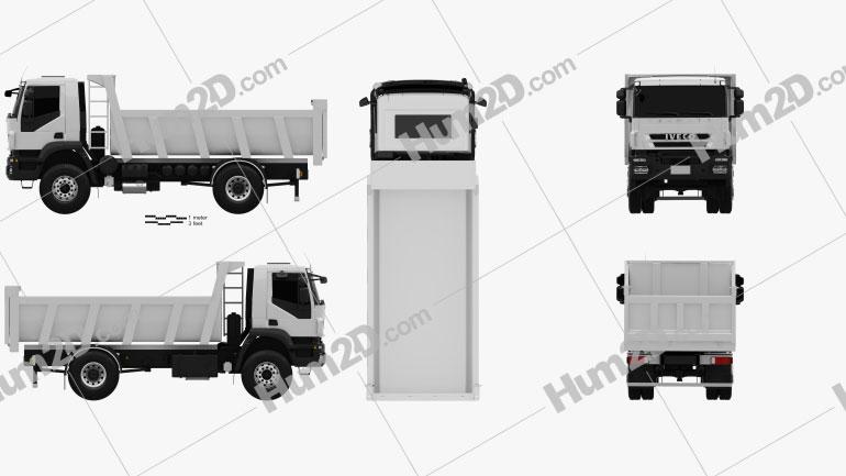 Iveco Trakker Dump Truck 2012 clipart