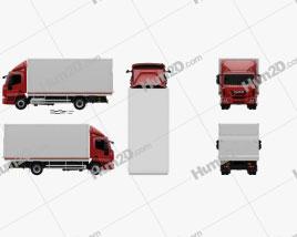 Iveco EuroCargo Box Truck 2013 clipart