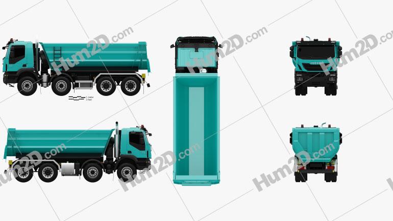 Iveco Trakker Tipper Truck 2013 clipart