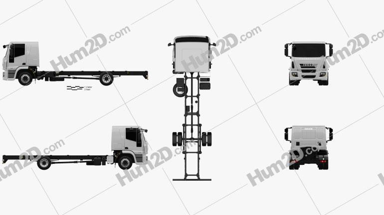 Iveco EuroCargo Chassis Truck (140E-E25) 2013 clipart