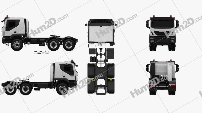 Iveco Trakker Tractor Truck 3-axle 2013 clipart
