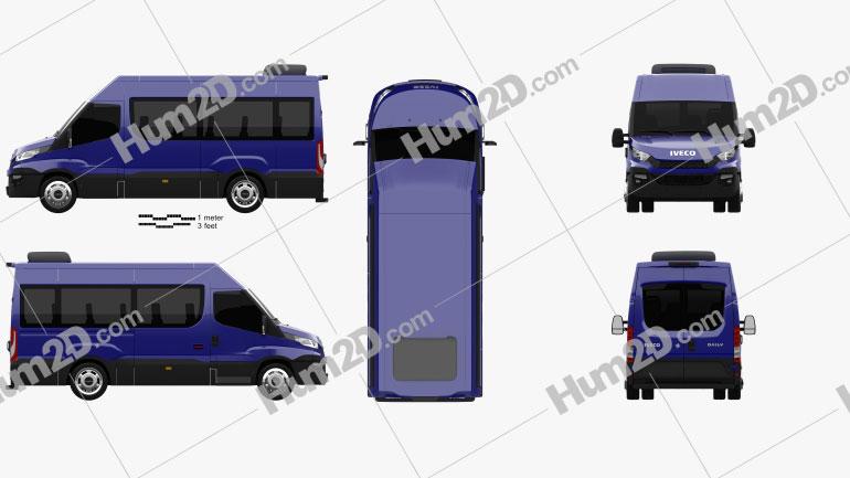Iveco Daily Passenger Van 2014 clipart