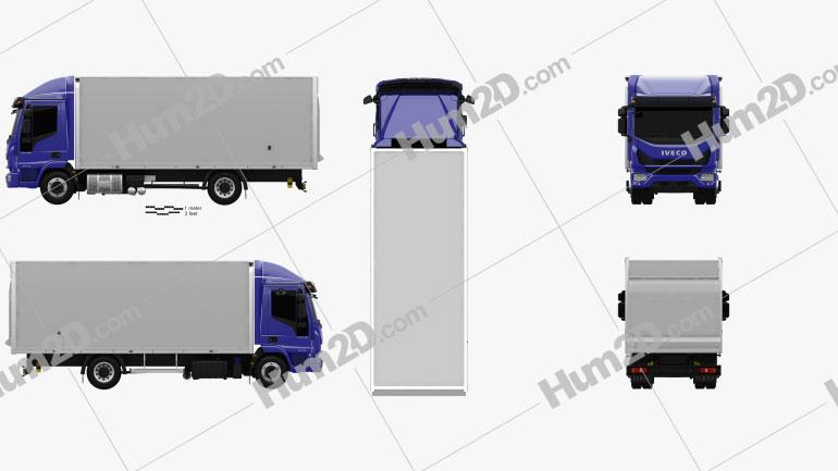 Iveco EuroCargo 75-210 Box Truck 2015 clipart