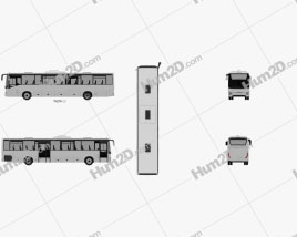 Iveco Crossway Pro Bus 2013 clipart