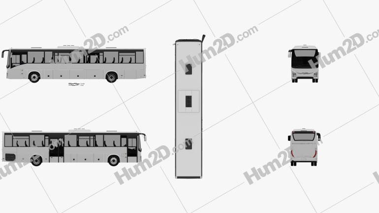 Iveco Crossway Pro Bus 2013 Clipart Image