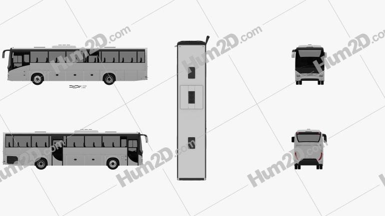 Iveco Evadys Bus 2016 clipart