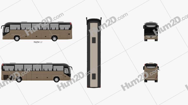 Iveco Magelys Pro Bus 2013 clipart