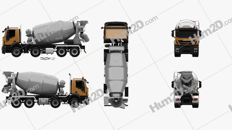 Iveco Stralis X-WAY Mixer Truck 2017 clipart