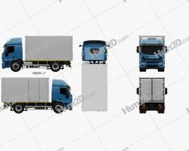 Iveco EuroCargo Box Truck 2019 clipart