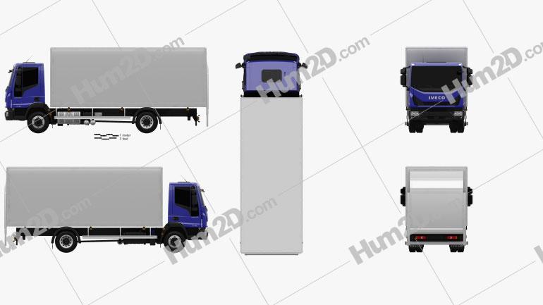 Iveco EuroCargo Box Truck 2015 clipart
