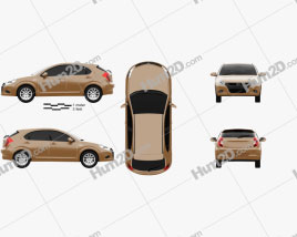 JAC Tongyue J3 RS 2009 car clipart