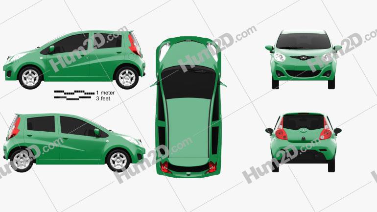 JAC Yueyue J2 2010 car clipart