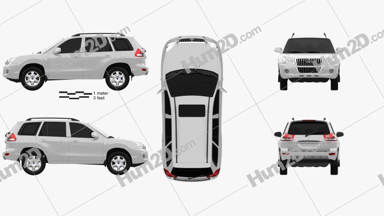 JAC Rein S1 2011 car clipart