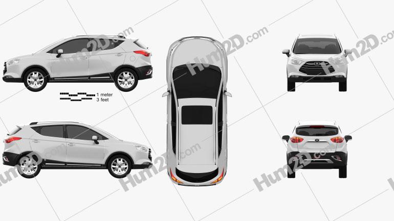 JAC Refine S3 2015 car clipart