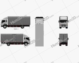 JAC Shuailing W Box Truck 2013 clipart